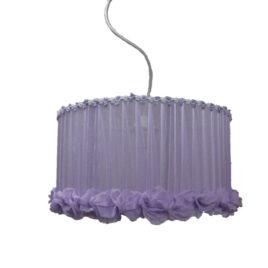 Colgante de Organza con Flores de Gasa 35 cm 2 Luces