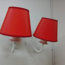 Lampara aplique de pared 2 luces con pantalla