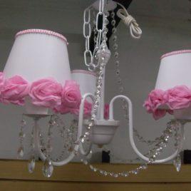 Araña de 3 Luces Cairel Pantallas con Flor