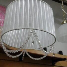 Colgante de Techo en Organza 30cm con Cairel 2 Luces