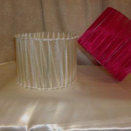 Pantallas para velador circular organza 20 cm