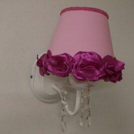Aplique de 1 Luz con Caireles Pantalla Lisa con Flores