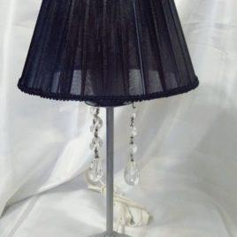 Velador Pantalla de Organza con Caireles